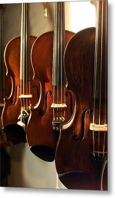 Violins Vertical Metal Print