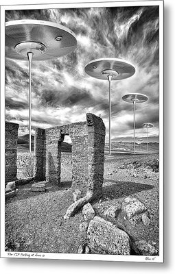 Vip Parking At Area 51 Metal Print