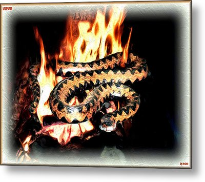 Metal Print featuring the digital art Viper by Daniel Janda