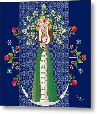 Virgen Chinita Metal Print