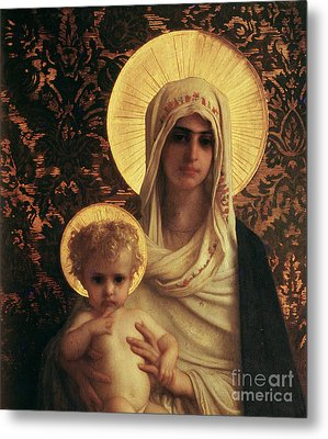 Virgin And Child Metal Print by Antoine Auguste Ernest Herbert