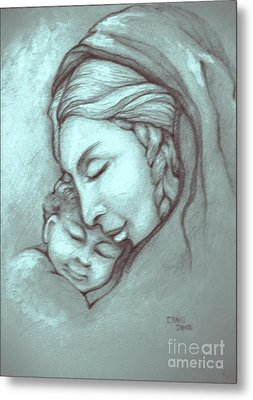 Virgin And Child Metal Print by Craig Green