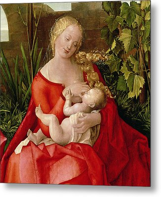 Virgin And Child Madonna With The Iris, 1508 Metal Print by Albrecht Durer or Duerer