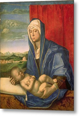 Virgin And Child Metal Print by Giovanni Bellini