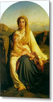Virgin And Child Metal Print by Paul  Delaroche