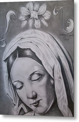 Virgin Mary Metal Print by Anthony Gonzalez