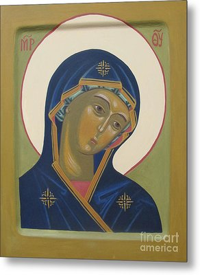 Virgin Mary Icon Metal Print by Seija Talolahti