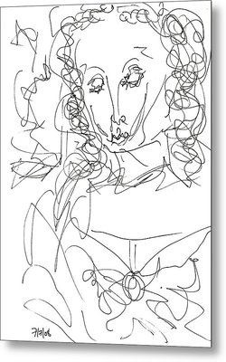 Virgin Mary Metal Print by Rachel Scott