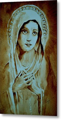 Metal Print featuring the painting Virgin Mary by Steven Ponsford