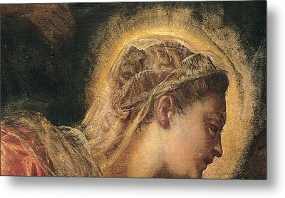 Virgin Mary  Metal Print by Tintoretto
