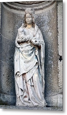 Virgin Mary With Child Metal Print by Olivier Le Queinec