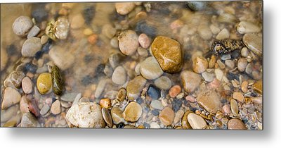 Virgin River Pebbles Metal Print by Adam Pender