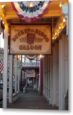 Virginia City Signs Metal Print