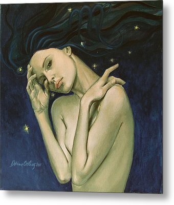 Virgo  From Zodiac Series Metal Print by Dorina  Costras