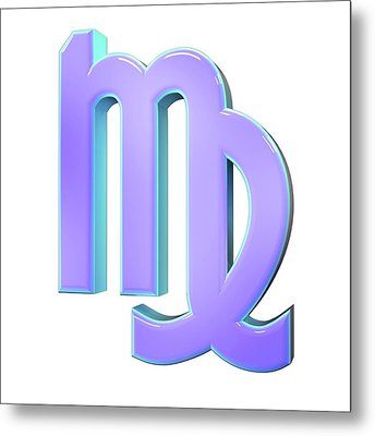 Virgo Sign Of The Zodiac Metal Print by Maurizio De Angelis