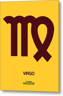 Virgo Zodiac Sign Brown Metal Print