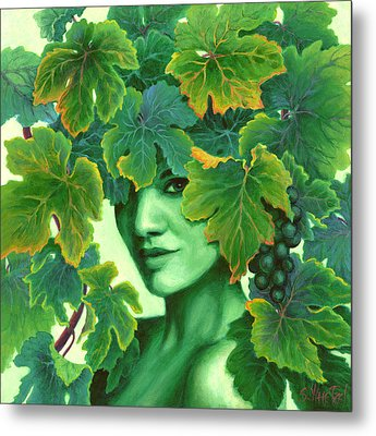 Virtue In The Vines Metal Print by Sandi Whetzel