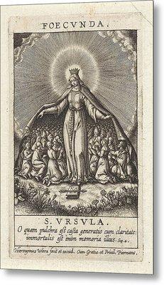 Virtue Of The Fertile Ones, Hieronymus Wierix Metal Print