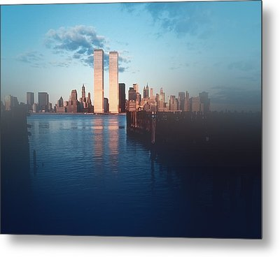 Vision Of A Great City Metal Print by Kellice Swaggerty