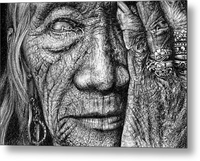 Metal Print featuring the drawing Vision by Penny Collins