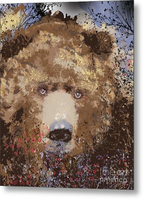 Visionary Bear Metal Print by Kim Prowse