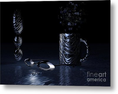 Metal Print featuring the digital art Visions Of Black by Jacqueline Lloyd