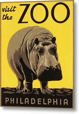 Visit The Philadelphia Zoo Metal Print by Bill Cannon