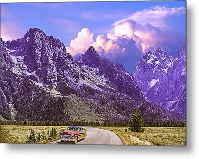Visit Wyoming Metal Print