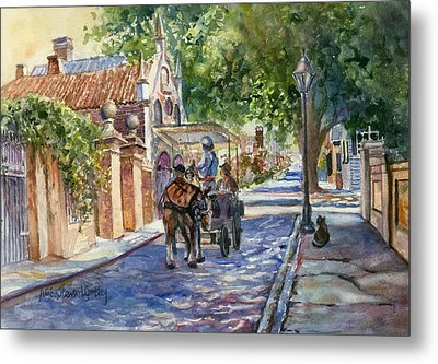 Visiting The S.o.b. Hood Metal Print by Alice Grimsley