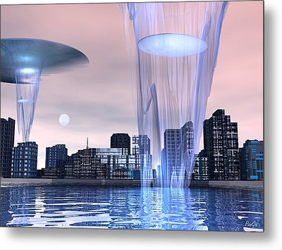 Visitors Metal Print