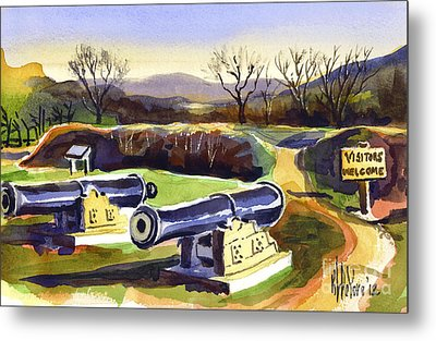 Visitors Welcome At Fort Davidson Metal Print