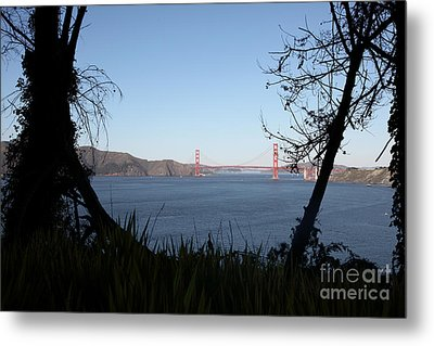 Vista To The San Francisco Golden Gate Bridge - 5d20983 Metal Print by Wingsdomain Art and Photography