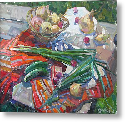 Vitamin Still Life Metal Print