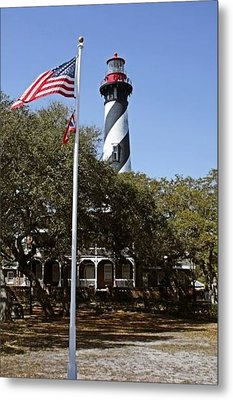 Viva Florida - The St Augustine Lighthouse Metal Print by Christine Till