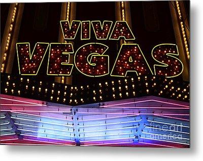Viva Vegas Neon Metal Print