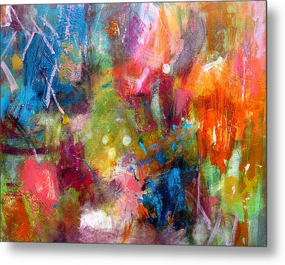 Metal Print featuring the painting Vivacious by Katie Black