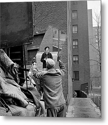 Vivian Maier Self Portrait Probably Taken In Chicago Illinois 1955 Metal Print by David Lee Guss