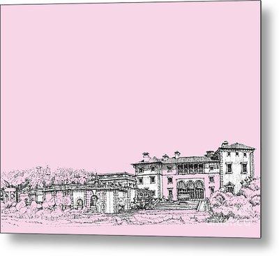 Vizcaya Museum In Pink Metal Print