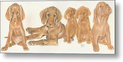 Vizsla Puppies Metal Print