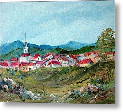 Vladeni Ardeal - Village In Transylvania Metal Print by Dorothy Maier