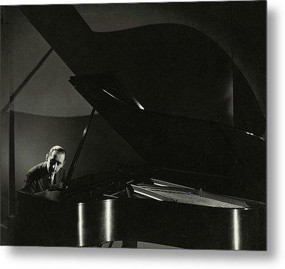 Vladimir Horowitz At A Grand Piano Metal Print