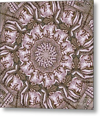 Vladimir Ilyich Lenin Mandala Metal Print by Andy Prendy