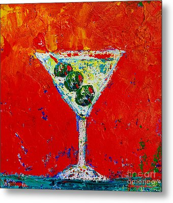 Vodka Martini Shaken Not Stirred - Martini Lovers - Modern Art Metal Print by Patricia Awapara