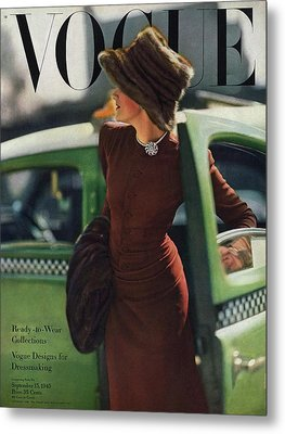 Vogue Cover Featuring A Woman Getting Metal Print