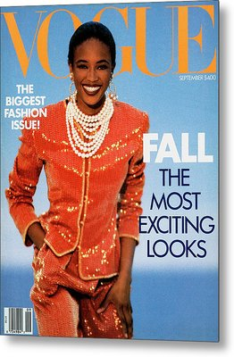 Vogue Cover Featuring Naomi Campbell Metal Print by Patrick Demarchelier