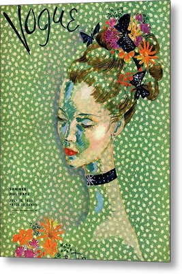 Vogue Magazine Cover Featuring A Woman Metal Print
