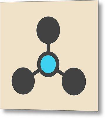 Volatile Tertiary Amine Molecule Metal Print