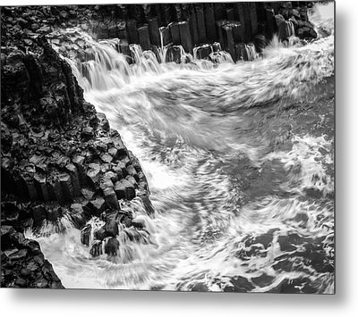 Volcanic Rocks And Water Metal Print
