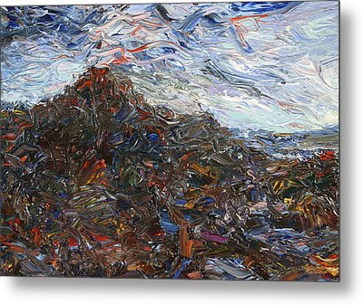 Volcano Metal Print by James W Johnson