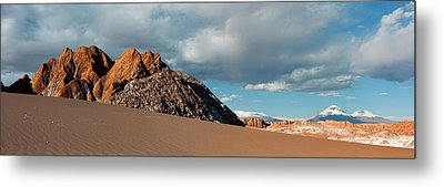Volcanoes Licancabur And Juriques Seen Metal Print by Panoramic Images